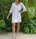 Ladies Island dress in natural or Khaki print