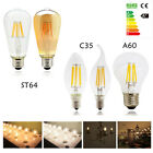 Dimmable E27 E14 2W 4W  6W 8W LED Filament Light Vintage Candle/Globe Bulb White