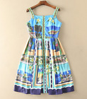 2017 occident Printed beading temperament fashion dress hot sale lively S~XL