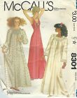 McCall's 8301 Misses' Nightgowns 14, 16  Sewing Pattern