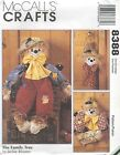 McCall's 8388 Scarecrows    Sewing Pattern