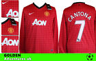 *12 / 13 - NIKE ; MANCHESTER UNITED  HOME SHIRT LS / CANTONA 7  = SIZE*