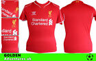 *14 / 15 - WARRIOR ; LIVERPOOL HOME SHIRT SS / PERSONALISED  = KIDS SIZE*