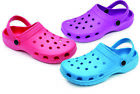 WOMEN'S LADIES SLIP ON RUBBER WATER GARDEN OUTDOOR CLOGS SAN