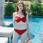 Korean Style Women Sexy Scallop Edge Bikini Set PushUp Bra Set Swimsuit Swimwear