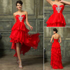 High Low Formal Masquerade Gown Evening dress Party Carpet Graduation Prom Dress