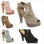 New Women's Fashion Gladiator Cut Out High Heel Platform Pumps Sandals Shoes