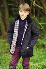 Genuine BRONTE Childs Unisex Hunting Husky Jacket Black or Brown