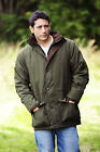Mens Outdoor Hunting Jacket Genuine Bronte With Moleskin Trim and Hi Viz Band