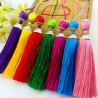 "10 colours 2""3/4 (7cm) w/ Silver Cap Fashion Long Tassel Fringe Tassel Trim (B6)"