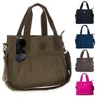 Big Hanbag Shop Large Fabric 3 Compartment Shopping Tote Shoulder Bag