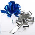 Blue and Silver Pull Bows