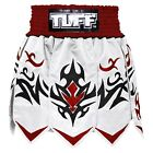 Tuff Muay Thai Boxing Gladiator Shorts Kick Boxing White Red Free Shipping