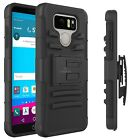 For LG G6 Heavy Duty Armor Tough Hybrid Hard Case Cover w/ Belt Clip Holster