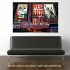 Wall Art Canvas Print Picture New York Broadway Shows Advertisements-Unframed