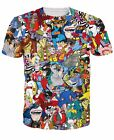 NEW 3D T-Shirt Funny All 90's Cartoons The Tick Top Print Tee Fashion Size S 5XL image