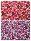100% Cotton Fabric by Metre Sewing Curtains Craft Patchwork Retro Flowers Daisy