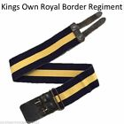BRITISH ARMY STABLE BELT UP TO 34 INCH KINGS OWN ROYAL BORDER REGIMENT