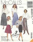 McCall's 6620 Misses' Wrap Skirts 6, 8, 10    Sewing Pattern