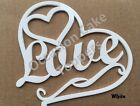 Heart Shaped Wedding Cake Topper - Love in writing - Acrylic decoration