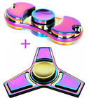 2 Pack Tri Fidget Hand Spinner Rainbow Finger Gyro Toy Focus ADHD Autism USPS