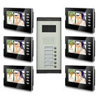 Apartment Wired Video Door Phone Doorbell Audio Visual Intercom Entry System