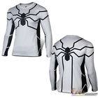 Mens Compression Long Sleeve Marvel Superhero T-Shirts Gym Sports Tights Fitness
