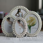 Elegant Pearl Crystal Decorative Photo Frame Home Decor Available in 4 Sizes NEW