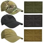 TACTICAL FLEXI FIT MESH CAP ARMY CAMO SAND BLACK BASEBALL HAT RIPSTOP + PATCH