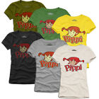 PIPPI LANGSTRUMPF VINTAGE T-SHIRT S-L, many colours; ToP ReTrO