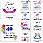 40th Birthday Gift Drink Coaster Celebration Present Coffee Tea Cup Novelty
