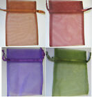 ORGANZA GIFT BAGS PACK OF 10 ASSORTED COLOURS 10 X 15, 12 X 16