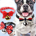 1pc Cute Adjustable Dog Puppy Cat Bow Tie Neck Bowknot Pet Collar with Bells Bow