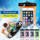 Waterproof Pouch Underwater Phone Bag Pack Case Cover For Cell iPhone Samsung