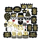 photo props - 26PCS 21st 30th 40th 50th 60th Birthday Party Masks Favor Photo Booth Props US