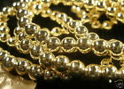 """Japanese Gold Plated Acrylic Pearl Style Beads 5mm 60"""" Strand or 40 pieces"""