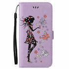 Luxury PU Leather Card Wallet Case Flip Stand Cover With Strap For Huawei Ascend