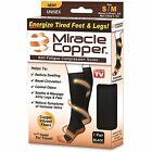 Miracle Copper Knee High Compression DVT Varicose Travel Socks Vein Circulation