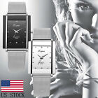 Luxury Women Ladies Analog Quartz Stainless Steel Wrist Watch Formal Dress Watch