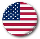 """WORLD FLAGS Various 25mm, 1"""" inch Button Badge T to Z"""