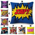 Fun Colourful Pop Art Design Cushion Pillow Case Cover - Free Shipping - NEW