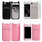 Cartoon Cute 3D Rubber Cat Soft Silicone Case Cover Back Skin For iPhone 7 Plus
