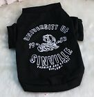 Dog Clothes S or  M or L Tee Shirt Black Breathable Cotton Small Dog Unisex New