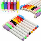 dry wipe whiteboard - 8 Colour in 1 Dry Wipe White Board Markers Pens Built In Eraser Colorful