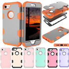 Shockproof Hybrid Hard Rubber PC Back Cover Case Skin For Apple iPhone 7/ 7Plus