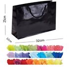 Black Glossy Landscape Boutique Shop Gift Bags Strong Shiny Gloss Bag & Tissue