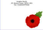 PERSONALISED NOTE CARDS WRITING SET CORRESPONDENCE THANK YOU POPPY POPPIES