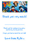 personalised photo paper card party birthday thank you notes LEGO SUPERHEROES