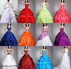 2017 Noble Formal Prom Ball Gown Wedding  Dress/Bridesmaid Gown Custom Size:6-18