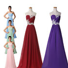 Long Chiffon Bridesmaids Party Formal Dress Evening Gown Prom Wedding Maxi Dress